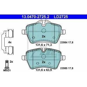 ATE 13.0470-2725.2 Комплект тормозных колодок, дисковый тормоз Мини