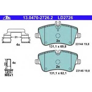 ATE 13.0470-2726.2 Комплект тормозных колодок, дисковый тормоз Мерседес Цлц-Класс