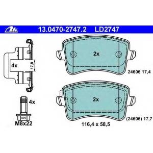 ATE 13.0470-2747.2 Комплект тормозных колодок, дисковый тормоз Ауди А4 Олроад