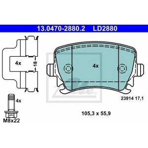 ATE 13.0470-2880.2 Комплект тормозных колодок, дисковый тормоз Ауди Кью 3