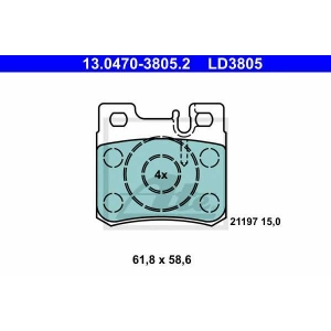 ATE 13.0470-3805.2 Комплект тормозных колодок, дисковый тормоз Мерседес Кабриолет