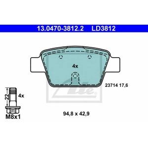 ATE 13.0470-3812.2 Комплект тормозных колодок, дисковый тормоз Фиат