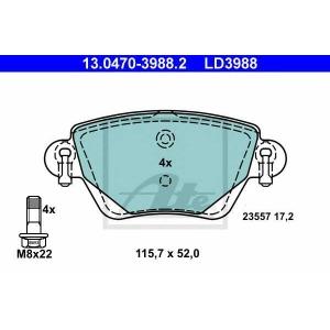 ATE 13.0470-3988.2 Комплект тормозных колодок, дисковый тормоз Ягуар Икс Тайп