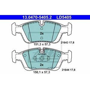ATE 13.0470-5405.2 Комплект тормозных колодок, дисковый тормоз Бмв З3