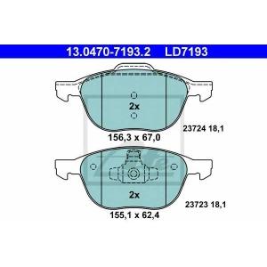 ATE 13.0470-7193.2 Комплект тормозных колодок, дисковый тормоз Форд Куга