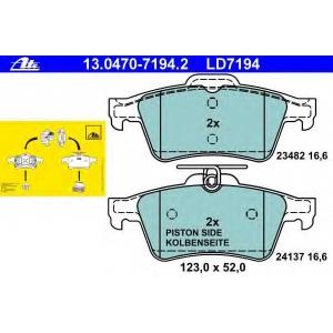 ATE 13.0470-7194.2 Комплект тормозных колодок, дисковый тормоз Форд Транзит Коннект