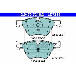 ATE 13.0470-7216.2 Комплект тормозных колодок, дисковый тормоз Бмв Х1