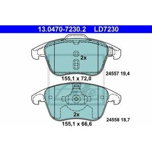 ATE 13.0470-7230.2 Комплект тормозных колодок, дисковый тормоз Ситроен С4 Пикасо