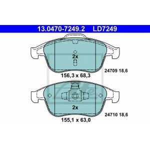 ATE 13.0470-7249.2 Комплект тормозных колодок, дисковый тормоз Рено Латитуде