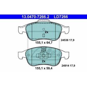ATE 13.0470-7266.2 Комплект тормозных колодок, дисковый тормоз Дача Лоджи