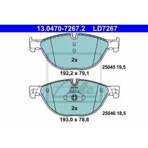 ATE 13.0470-7267.2 Комплект тормозных колодок, дисковый тормоз Бмв 5