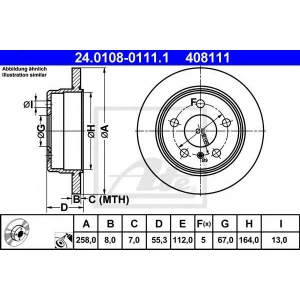 ATE 24.0108-0111.1 Тормозной диск Мерседес Ванео