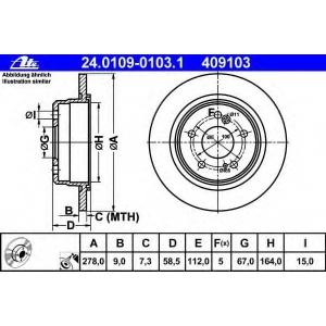 ATE 24.0109-0103.1 Тормозной диск Мерседес Сл