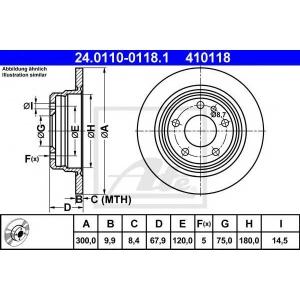 ATE 24011001181 Тормозной диск