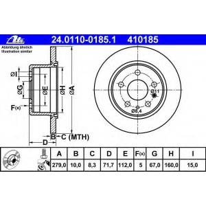 ATE 24.0110-0185.1 Тормозной диск Мерседес С-Класс