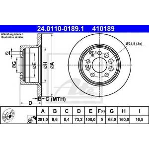 ATE 24.0110-0189.1 Тормозной диск