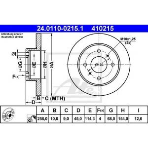 ATE 24011002151 Тормозной диск