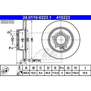 ATE 24.0110-0223.1 Тормозной диск Форд Галакси