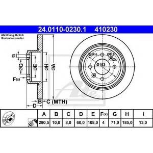 ATE 24011002301 Тормозной диск