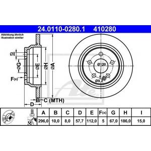 ATE 24.0110-0280.1 Тормозной диск Мерседес Виано