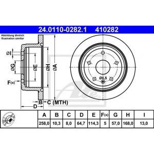 ATE 24.0110-0282.1 Тормозной диск Дэу Леганза