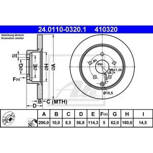 ATE 24011003201 Тормозной диск