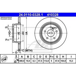 ATE 24.0110-0328.1 Тормозной диск Мерседес Ц-Класс