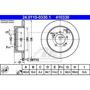 ATE 24.0110-0330.1 Тормозной диск Ситроен С Кроссер