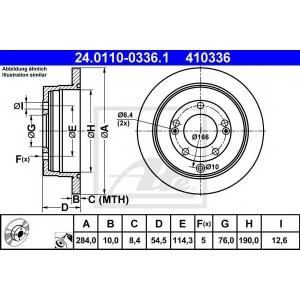 ATE 24.0110-0336.1 Тормозной диск Киа Опирус