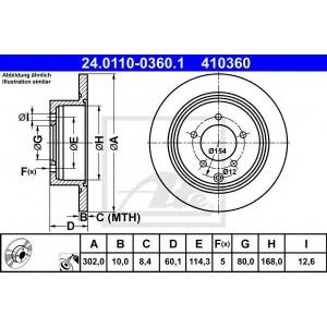 ATE 24.0110-0360.1 Тормозной диск Ситроен С Кроссер