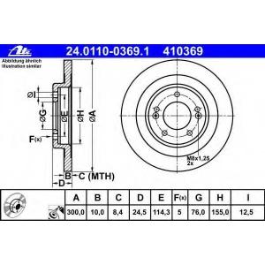 ATE 24.0110-0369.1 Тормозной диск Хюндай