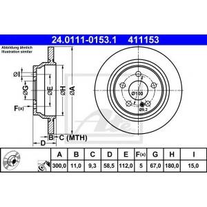 ATE 24011101531 Тормозной диск