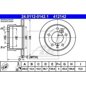 ATE 24.0112-0142.1 Тормозной диск Мерседес Спринтер 2Т