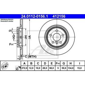 ATE 24.0112-0156.1 Тормозной диск Ситроен C8