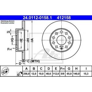 Тормозной диск 24011201581 ate - VW TOURAN (1T3) вэн 1.2 TSI