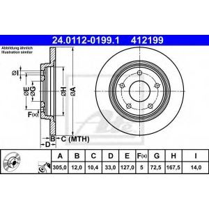 ATE 24.0112-0199.1 Тормозной диск Фиат Фримонт