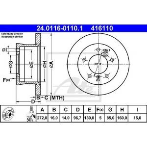 Тормозной диск 24011601101 ate - MERCEDES-BENZ G-CLASS (W461) вездеход закрытый G 280 CDI