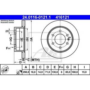 ATE 24.0116-0121.1 Тормозной диск Мерседес Спринтер 3,5