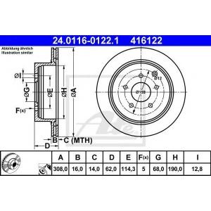 ATE 24.0116-0122.1 Тормозной диск Инфинити М