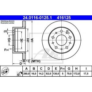 ATE 24.0116-0125.1 Тормозной диск Ситроен Джампер