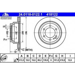 ATE 24.0118-0122.1 Тормозной диск Опель Фронтера