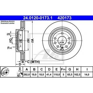 ATE 24.0120-0173.1 Тормозной диск Фиат Хрома