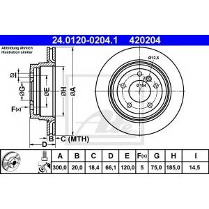 ATE 24.0120-0204.1 Тормозной диск Бмв 1