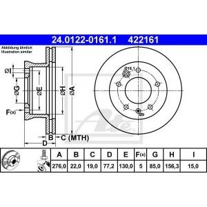 ATE 24.0122-0161.1 Тормозной диск Мерседес Спринтер 4Т