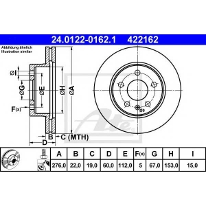 Тормозной диск 24012201621 ate - MERCEDES-BENZ VITO автобус (638) автобус 108 D 2.3 (638.164)