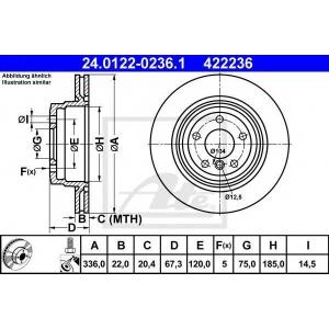 ATE 24.0122-0236.1 Тормозной диск Бмв Х1
