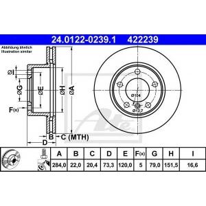 ATE 24.0122-0239.1 L/R BMW 1 (E81), 1 (E87), 1 (F20), 1 (F21), 2 (F22, F87), 2 (F23) 1.5-2.0D 11.03-