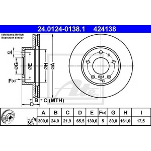 ATE 24.0124-0138.1 Тормозной диск Ситроен Джампер