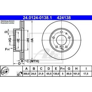 ATE 24.0124-0138.1 Тормозной диск Фиат Дукато