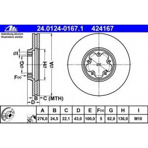 ATE 24012401671 Тормозной диск